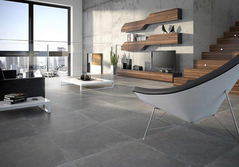 Paris toda exclusive - Carrelage beton cire gris ...